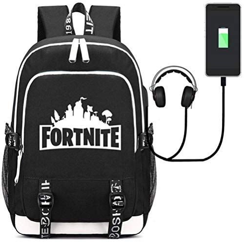 Fortnight Action Toy Figures Student School Bags Small Size Backpacks Cartoon Ga