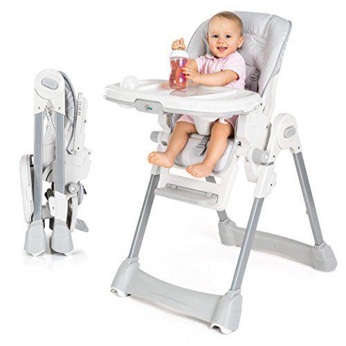 Fillikid Baby Trona Silla Alta De Bebe Asiento Reclinable Cojin Acolchado Cinturon Mesa Con Bandej Silla De Comer Bebe Silla Para Bebe Asiento Reclinable