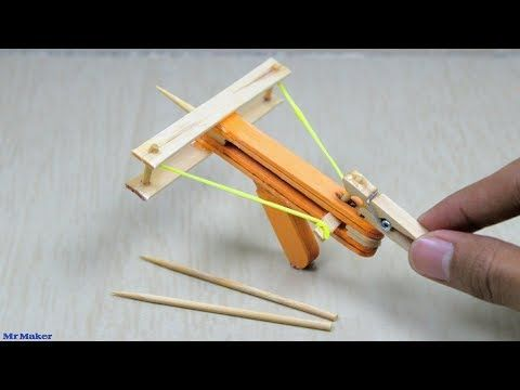 Build Toothpicks And Popsicle Sticks Google Search Diy Crossbow How To Make