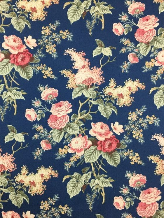 Waverly Floral Print Fabric Floral Upholstery Fabric Etsy Vintage Floral Fabric Floral Upholstery Fabric Floral Print Fabric