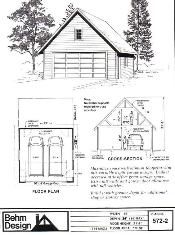 84 Lumber Pre Fab Garage 9351 Behm Design Garage Plan 572