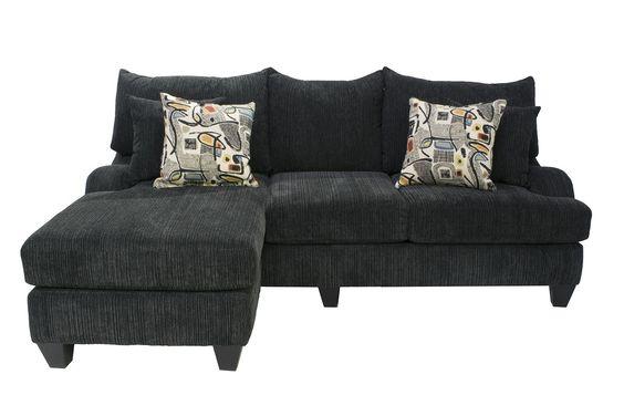 Tabby Blue Sofa Chaise - Sectionals - Living Room | Mor Furniture for Less  sc 1 st  Pinterest : mor furniture sectionals - Sectionals, Sofas & Couches