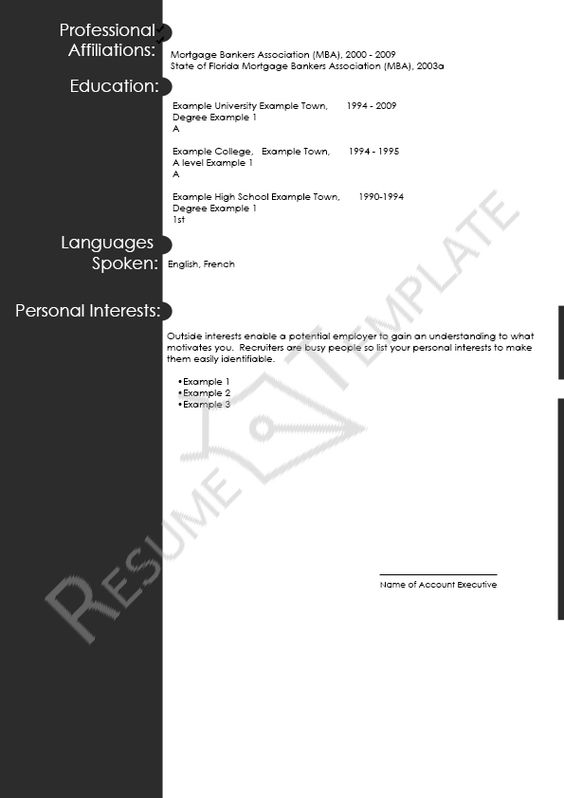 this image presents the apa format resume template do you know