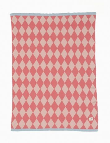 Happy Harlequin Blanket by Ferm