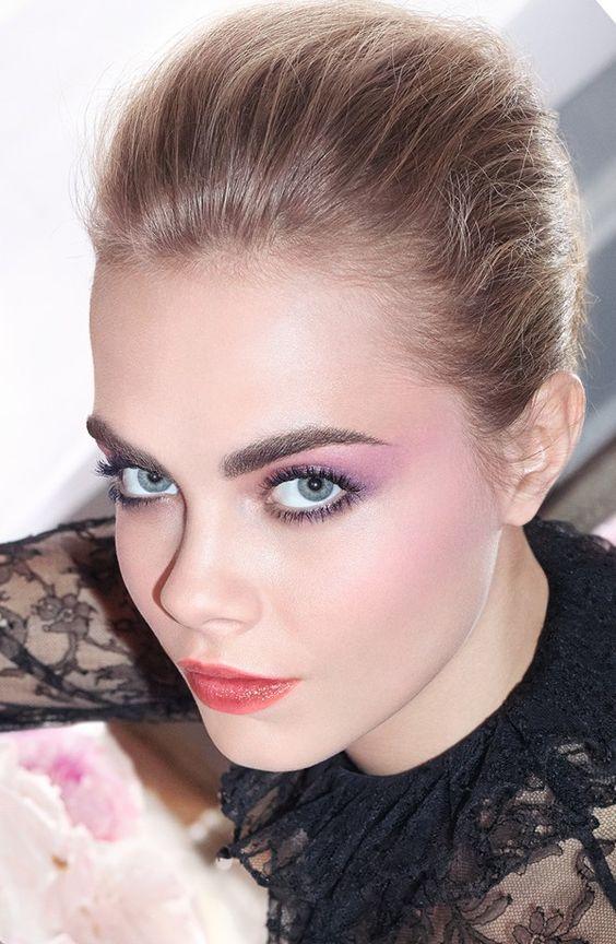 Cara Delevingne soft pink makeup inspiration
