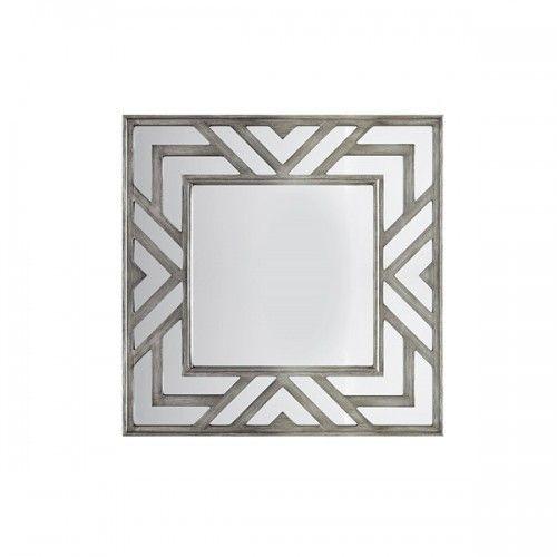 Geometric Design Silver Frame Square Wall Mirror Mirror Wall Decor Mirror Wall Silver Mirrors