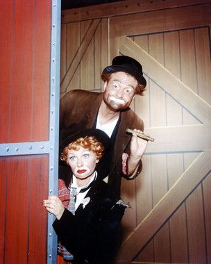 """Lucy and Red Skelton 1959 Publicity Photo for the """"Lucy-Desi Comedy Hour"""""""