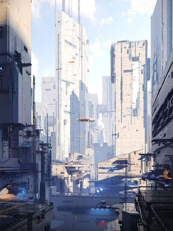 Area 09 - Sci fi City on Behance