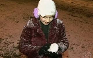 Neve cai em Curitiba após 38 anos
