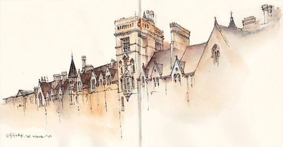 Akvarel.. - Page 14 Cd240d14cdcb8cbcdce7cea46909502e--watercolor-architecture-sketch-book