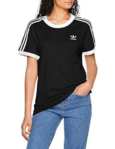 adidas Damen 3 Stripes_CY4751 T-Shirt Schwarz (black) 42 ...