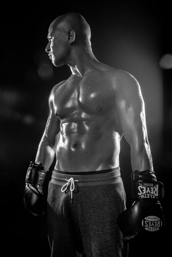 The Boxer searching for hope  athlete, man, sport, light, boxing, studio, paris, muscle, fight, photography, blackandwhite