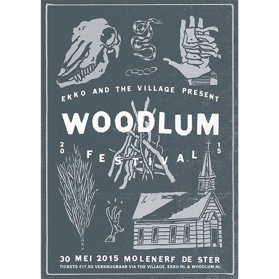 Artwork for the new edition of woodlum festival, in collaboration with @ekko.nl and @thevillagecoffee #poster #festival #woodlum #print