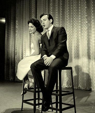Bobby Darin and Connie Francis   Connie Francis with Bobby Darin