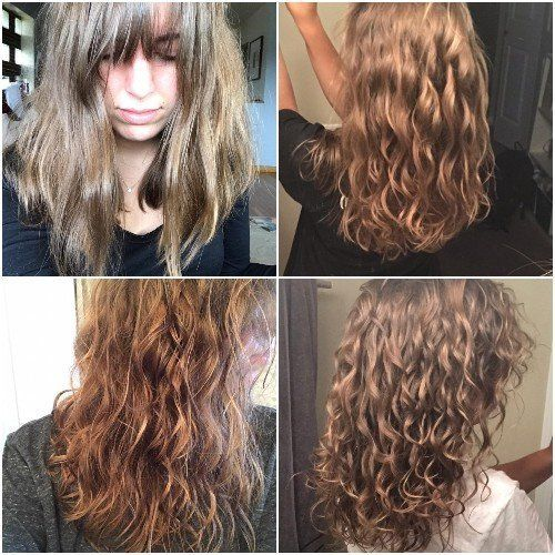 Curly Girl Method Before And After Routine Pictures Wavy Hair Care Curly Girl Method Curly Hair Tips