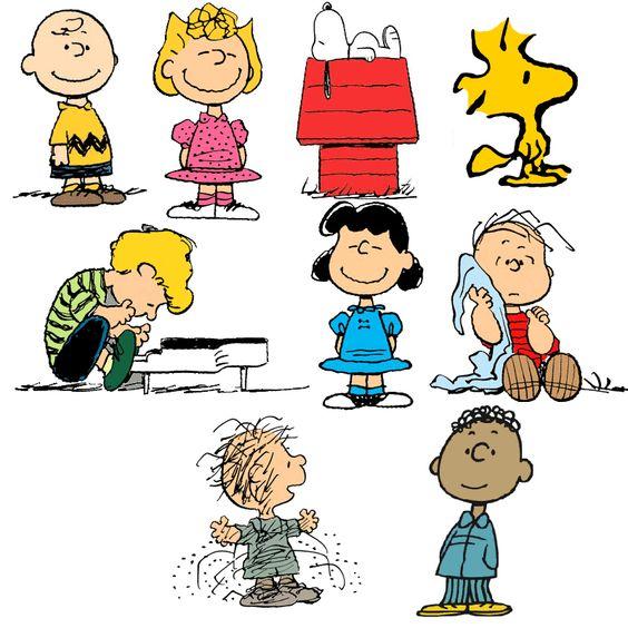 Charlie Brown, Sally Brown, Snoopy, Woodstock, Shroeder ...