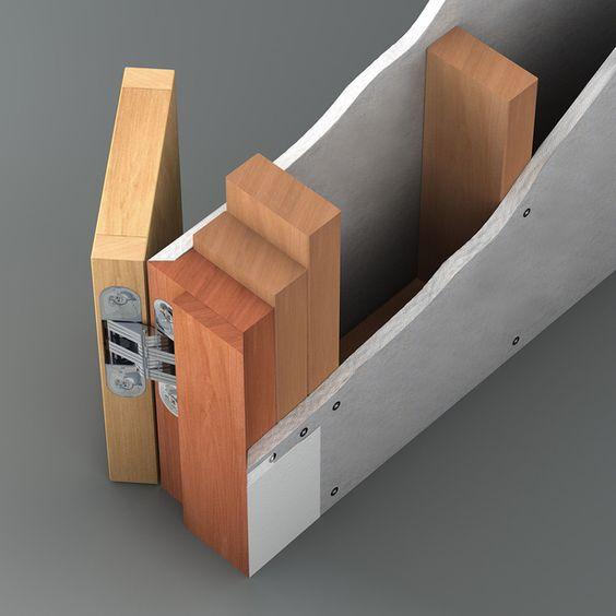 Flush door in trimless opening | Glenn Stevens | Archinect
