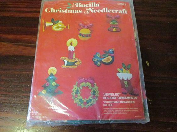 Felt Kit Bucilla Felt Ornament Kit Jeweled by ClassyStitches