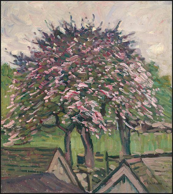"""Blossoming Tree,"" Charles Salis Kaelin, oil on canvas, 18 1/8 x 16 1/8"", Spanierman Gallery."