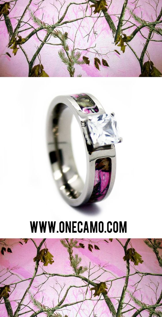 Camo Rings Wedding Ring And Pink Camouflage On Pinterest
