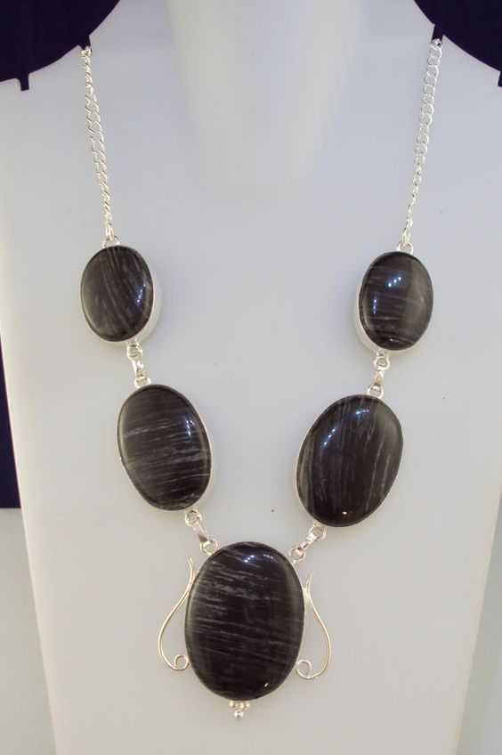 69 gram marvelous BLACK JASPER handmade necklace by YOURJEWELLERY https://www.etsy.com/in-en/shop/YOURJEWELLERY?ref=l2-shop-info-name