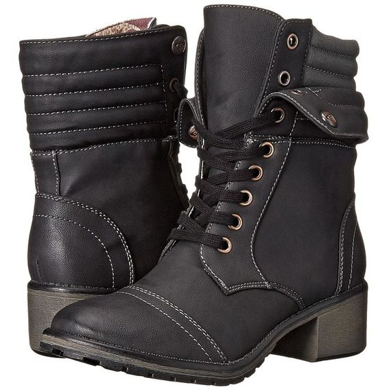 Roxy Charley Women's Lace-up Boots ($89) ❤ liked on Polyvore featuring shoes