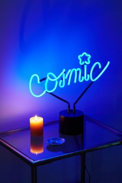 Lit Neon Sign Table Lamp Amped And Co Neon Decor Living Room Decor Modern Table Lamp Design