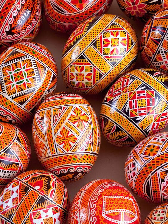 Pysankas are traditional Ukrainian decorated Easter eggs and are a beautiful way to add to your home décor any time of the year. Each Pysanka is handmade by Anna and her fellow artists using the batik:
