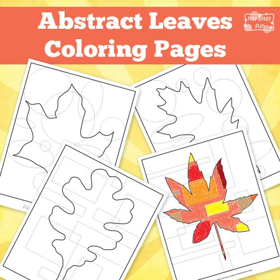Abstract Halloween Coloring Pages : Abstract leaves coloring pages for kids and kid