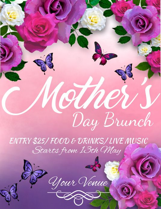 Mother S Day Flyer Happy Mother S Day Mother S Day Brunch Mother S Day Diy Mothers Day Brunch Ladies Day