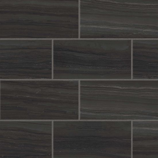 Highland 12 X 24 Floor Wall Tile In Black In 2020 Wall Tiles Floor And Wall Tile Flooring