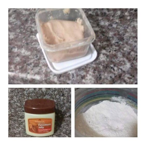 DIY Scar putty/ wax: •Petroleum Jelly  •All-purpose flour       Mix petroleum jelly and flour in a container until it is a consistency that you're able to roll into a ball. If it's sticky, add more flour...if it's lumpy, add more petroleum jelly