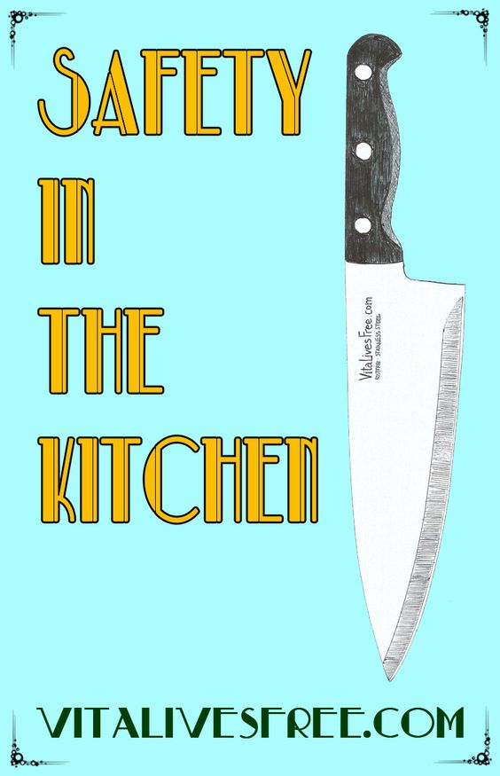 Safety in the kitchen knives and tips on pinterest for 3 kitchen safety rules