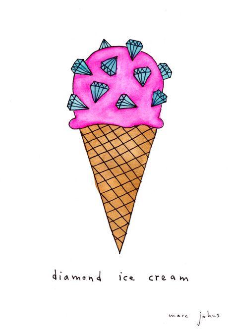 diamond ice cream - dairy free of course!