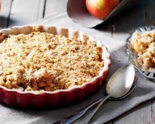 Crumble pommes-poire au son d'avoine spécial brûle graisse : http://www.fourchette-et-bikini.fr/recettes/recettes-minceur/crumble-pommes-poire-au-son-davoine-special-brule-graisse.html