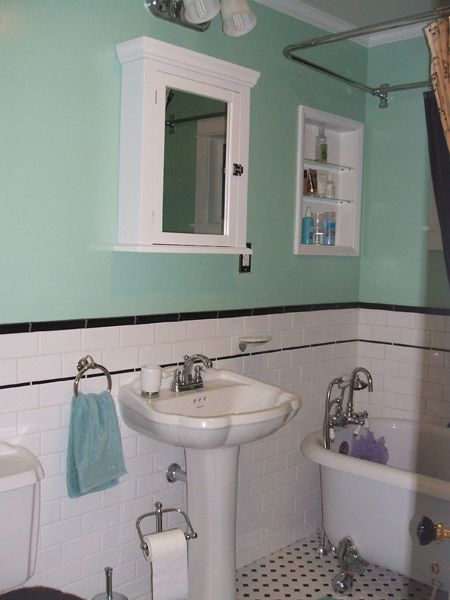 1930s bathroom for the home pinterest clawfoot tubs for Bathroom ideas 1930s semi