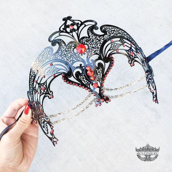 Masquerade Maske schwarzen Karnevalsmaske Ball von 4everstore