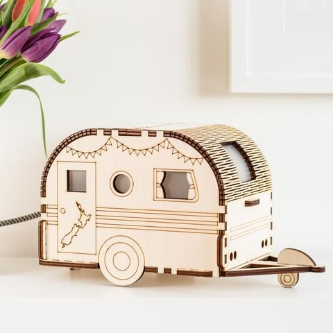 CARAVAN CAMPER SHAPE LASER CUT MDF SHAPE Wood Craft Arts Decoration