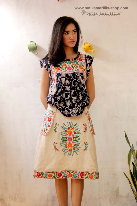 Batik Amarillis Made in Indonesia Batik Amarillis's Mexican embroidery ...Indonesia's traditional textile meets Mexican embroidery we love combining Mexican 's bold and beautiful embroidery with Indonesia's traditional textiles such as Batik and ikat.