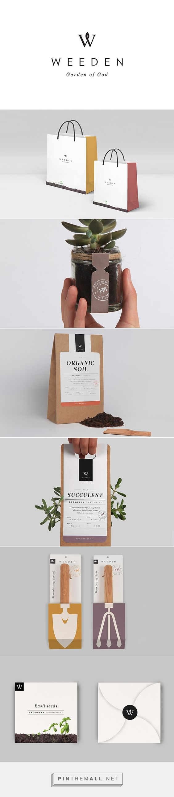 "Weeden packaging branding on Behance by Florence Libbrecht curated by Packaging Diva PD. A Brooklyn based brand of ""inside gardening"" looking for creating and owning terrariums and plants.:"