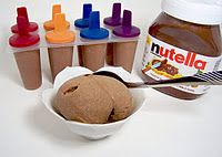 Bananas+Nutella (or almond butter)= yummy frozen treat.