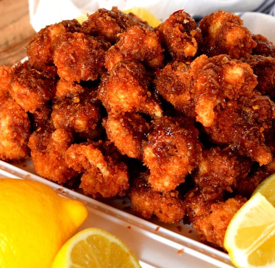 Crispy Fried Honey Lemon Glazed Cauliflower | Recipe | Honey Lemon ...