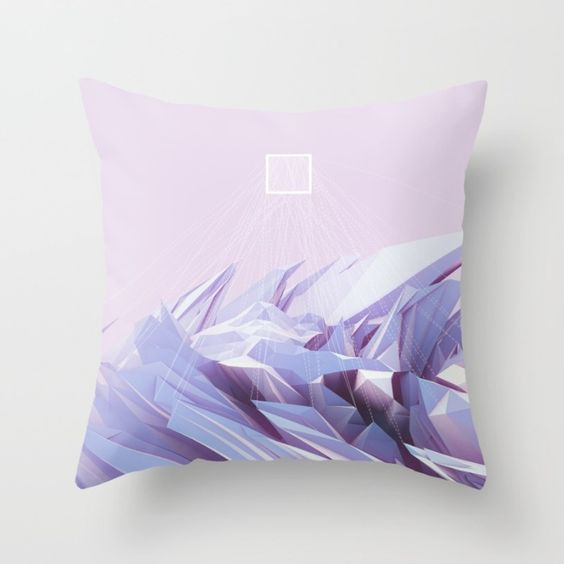 Data Crystals Throw Pillow by Memoirnova | Society6