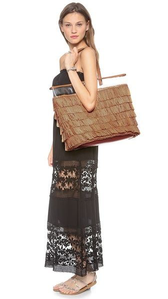 Tory Burch Molly Bucket Tote and 6 Shore Road Maxi Dress