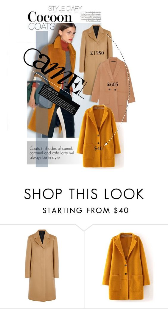 """Camel coat"" by sherbetfountain ❤ liked on Polyvore featuring Jil Sander, Theory, women's clothing, women, female, woman, misses and juniors"