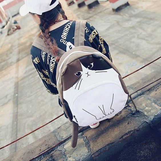 #aliexpress, #fashion, #outfit, #apparel, #shoes http://s.click.aliexpress.com/deep_link.htm?dl_target_url=https%3A%2F%2Fru.aliexpress.com%2Fitem%2Fcartoon-cat-fashion-women-backpacks-new-preppy-style-casual-school-bags-canvas-cute-Funny-print-Korea%2F32731635911.html&aff_short_key=MrVN76M