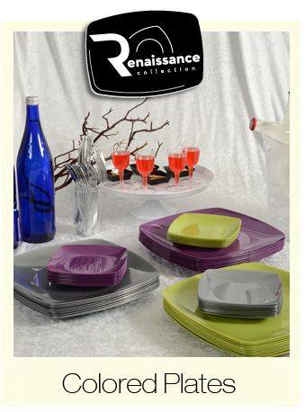 Soft Square Colored Plates - The Renaissance Collection by Fineline Settings!