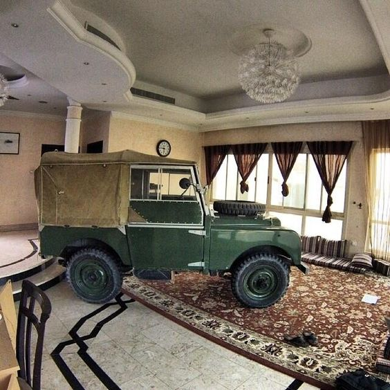 Oh Yeah, A Land Rover In The Living Room. Wife Wouldn't