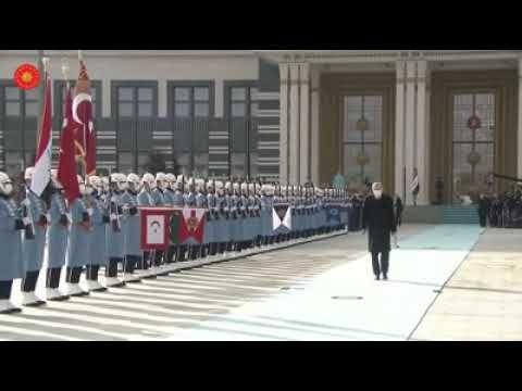 فيديو أردوغان يقيم حفل استقبال رسمي لرئيس الوزراء العراقي مصطفى الكاظمي Rare