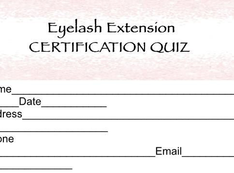 Eyelash Extension Certification Quiz Lash Extension Quiz Digital
